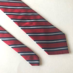 Nautica Silk Tie Red, Navy, and White Stripe